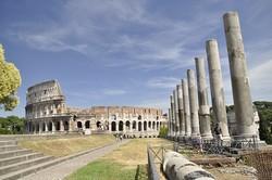 Il Colosseo dal Foro Romano Roma