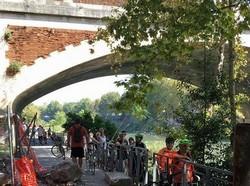 ciclabile crollo Ponte Sublicio
