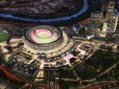 stadio roma rendering notte